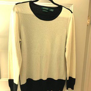 Ralph Lauren Black/Cream sweater size M